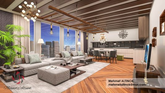 interior design modelling and render